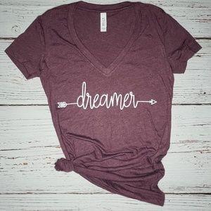 Dreamer Bella Canvas Deep V Graphic Tee